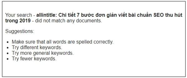 kiểm tra bài viết chuẩn seo, seo content, allintitle
