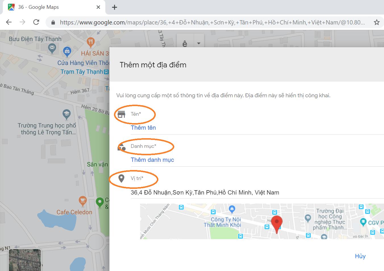 hướng dẫn seo google map